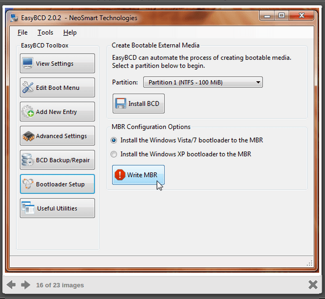 Recovering the Windows Bootloader EasyBCD-pic2