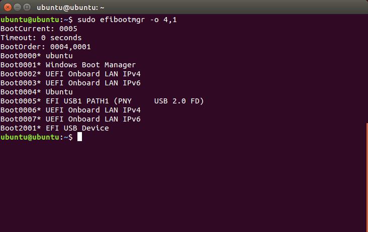 Install Ubuntu Alongside Windows 10 ubuntu-uefi-terminal