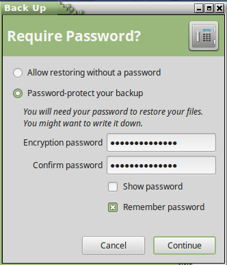 deja require password screen